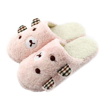 Harga Bear Pattern Antiskid Slippers Home Pink L