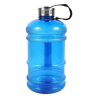 2.2L Large Capacity Sport Gym Training Drink Water Bottle Cap Workout Kettle (Dark Blue) - intl