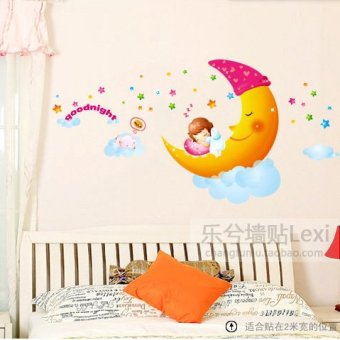 Harga Cartoon children's room nursery decorative wall glass stickers wall stickers