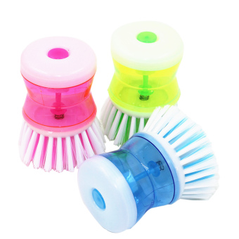 Harga 3pcs Plastic Wash Tool Pot Pan Dish Bowl Palm Brush Scrubber Kitchen Cleaning Cleaner (Multicolor)