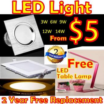 LED Downlight LED Ceiling Light Down light Free Energy Saving 3W 6W 9W 12Watt