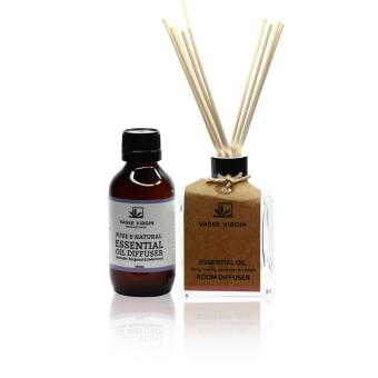 Harga Vasse Virgin Pure & Natural Essential Oil Diffuser Lavender, Bergamot & Cedarwood 100ml