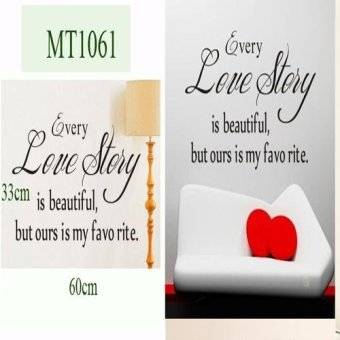 Harga Quotes Words Wall Sticker Decal - (MT1061)