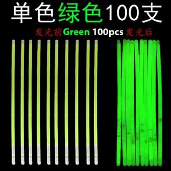 Harga Glow Light Stick - Green 100pcs