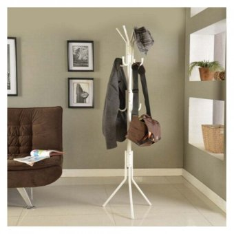 Harga Hat & Clothes Hanger Stand/ Hanger Coat Stand/ Clothes Rack White