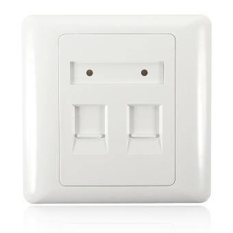 86 Type 2 port Square RJ45 CAT6 Wall Flat Face Plate Ethernet Network Socket(Export)