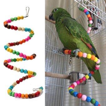 100CM Parrot Parakeet Toy Wooden Bird Ladder - 3