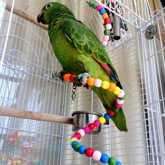 100CM Parrot Parakeet Toy Wooden Bird Ladder - 4