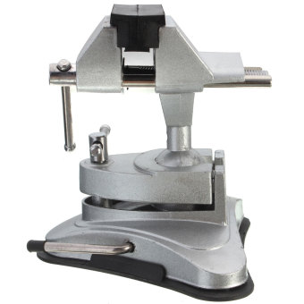 Harga Table Top Bench Vice Vise 360 Rotates Tilts Adjustable Clamp Rubber Suction Base - intl