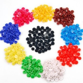 Harga 150 Sets Size 20 T5 Plastic Button Fastener Snap Studs Snaps Resin Poppers Pop Fasteners (10 colors)