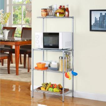 Harga 3 Tier Microwave & Kitchen adjustable Rack