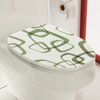 toilet seat lid cover vinyl pvc art sticker wallpaper bathroom wall decor diy