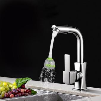 Kitchen Water Saving Faucet Flexible Splash Tap (Green) - intl