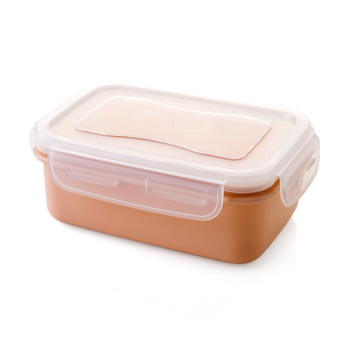 Home home plastic refrigerator food crisper round sealed box kitchen rectangular lunch box storage box