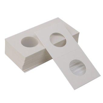 BolehDeals 50 2x2 Cardboard Coin Holders Flips Mylar Coin Supplies 20.5mm(Export) - 3