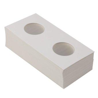 BolehDeals 50 2x2 Cardboard Coin Holders Flips Mylar Coin Supplies 20.5mm(Export) - 2