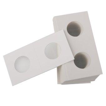 BolehDeals 50 2x2 Cardboard Coin Holders Flips Mylar Coin Supplies 20.5mm(Export) - 5
