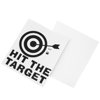 Harga Beau HIT THE TARGET DIY Toilet Seats Art Wall Stickers Quote Bathroom Decal - intl