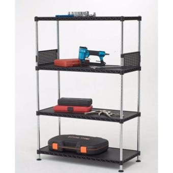 Harga E4 Boltless 4 Shelf Storage Rack(Black)