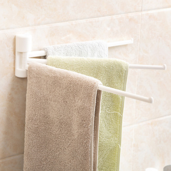 Harga Japan can be rotating towel rack viscose wall towel hanging kitchen cloth rack bathroom-free punch towel rod