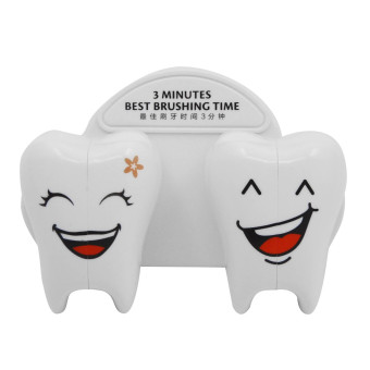 Harga Plastic Cartoon Smile Tooth Style Suction Cup Wall Mounted Toothbrush Holder with Cover
