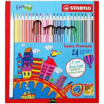 Harga Stabilo Swans Premium 24 Coloured Pencils