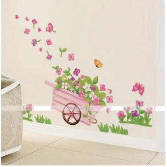 Harga Wall Decals / Wall Stickers ZZA37 Flowery Cart