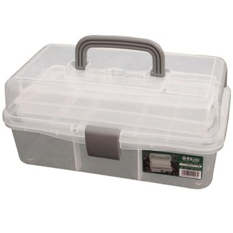 Harga 12.5 inch all transparent color plastic PP tool cabinet box caja de herramientas portable fittings box household storage(Export)(Intl)
