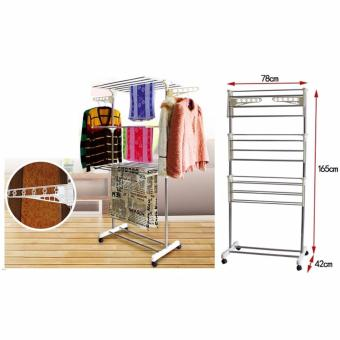 Harga Foldable Laundry Clothes Drying Rack