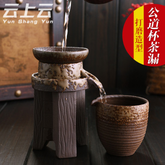 Harga Cloud on the cloud retro tea filter bubble tea coarse pottery tea strainers tea graphite tea every other filter the tea is with fair cup