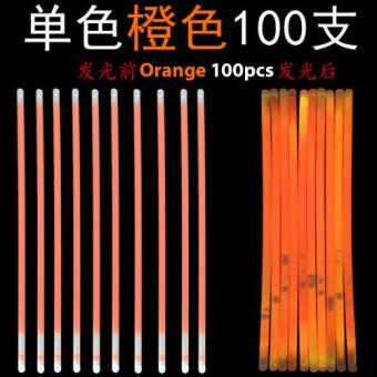 Harga Glow Light Stick - Orange 100pcs