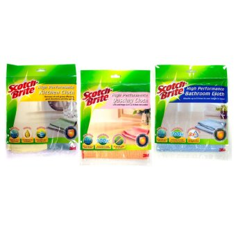 Harga [Value Set] Scotch-Brite® High Performance Cleaning Cloth Bathroom + Dusting + Kitchen