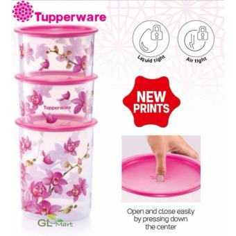 Harga TUPPERWARE Orchid Elegance One Touch 3in1 Set House Warming Gift Food Storage Air Tight Liquid Tight