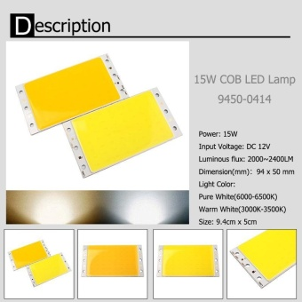 Harga High Quality Store New Ultra Bright 15W COB LED Strip Light Lamp Bead Chip diy DC 12V White Light