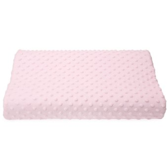 Harga Slow Rebound Memory Foam Orthopedic Latex Neck Pillow (PINK)