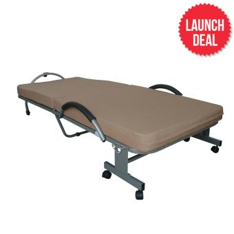 Harga Box Furniture Berhala Folding Bed (Brown)