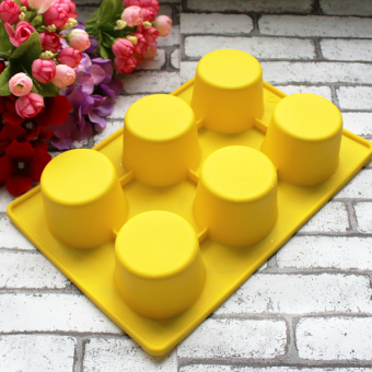 Harga 6 even silicone dessert mold cake mold baking tools bread mousse cylindrical handmade soap cold soap
