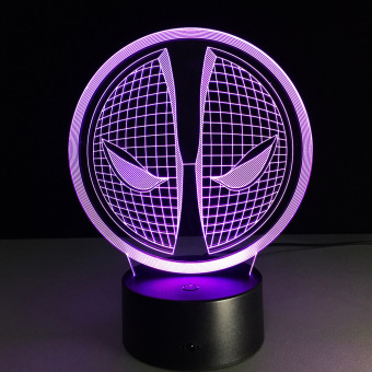Harga Deadpool 2 Colorful 3D Touch Lamp LED Lights Vision Home Decoration Touch Control Nightlight