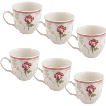 Harga Claytan Coffee / Tea Cup - Damask Flower - 0426F (Set of 6)