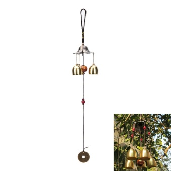 Large Copper Antirust Lucky Bells Copper Yard Garden Outdoor Wind Chimes Decor Lotus Leaf - intl - 3