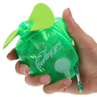 Harga New Mini Portable Electric Water Spray Cooling Fan Mist Sport Beach Camp Travel (Green)