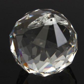50mm Clear Crystal Glass Ball Lamp Prisms Part Decoration Pendant Bead FENG SHUI - intl - 4