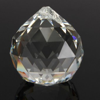 50mm Clear Crystal Glass Ball Lamp Prisms Part Decoration Pendant Bead FENG SHUI - intl - 2