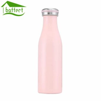 Harga BAFFECT 350ML Portable Sport Water Bottles 12-24 Hours Stainless Steel Insulation Cup(Pink) - intl