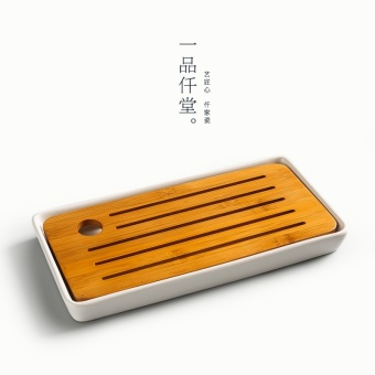 Harga Ceramic tea tray tea set bamboo storage water Japanese-style kung fu dry foam Taiwan mini small tea sets tea tray package of Tea sea