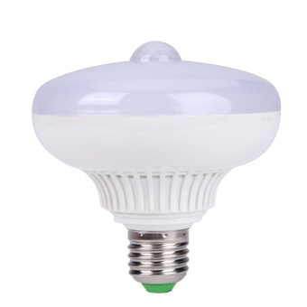 Harga 12 W E27 Infrared Light Body Motion Sensor LED Lamp Bulb (Cold Light) - intl