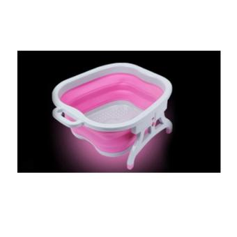 Harga Collapsible Silicone Foot Tub (Pink)
