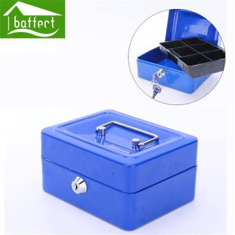 BAFFECT 15*12*8cm Safe Coin Piggy Bank Lockable Metal Saving Cash Boxes Jewelry Storage Key Box (Black) - intl - 3