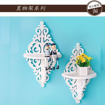 Harga Wall hangings decoration/factory outlets/hollow decoration clapboard shelf wall shelf rack wall style