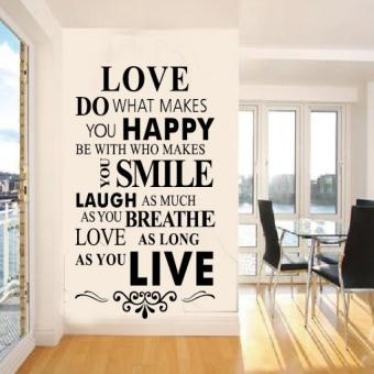 YBC Wall Stickers Custom In English 8083 86 56cm Love House Rule Zooyoo